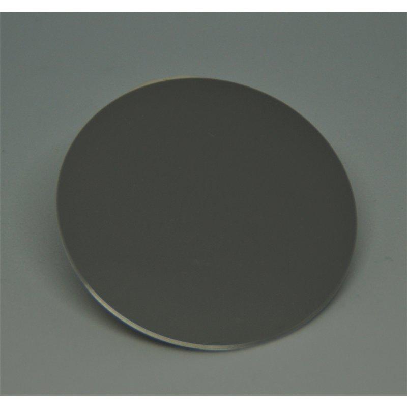 Aluminium Aufkleber Emblem 60 mm Alu Emblem schwarz matt lackiert 4 St