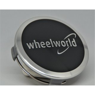 Wheelworld 74,5 mm 4 Stück Orginal Nabenkappen  Felgendeckel schwarz Z 06
